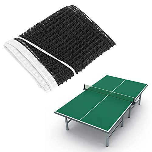 Red de Tenis de Mesa, Reemplazo portátil de Red de Ping Pong, Nylon Outdoor Mesas de Interior Red de Torneo para el hogar, Negro, 6 pies