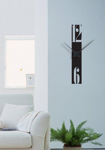 Beestick st7_001-KN-N Sticker Horloge Murale, Vinyle, Noir, 13x78