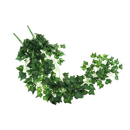 2x Künstliche Pflanzen Künstliche Efeu Garland Laub Grüne Blätter Gefälschte Hängende Rebe