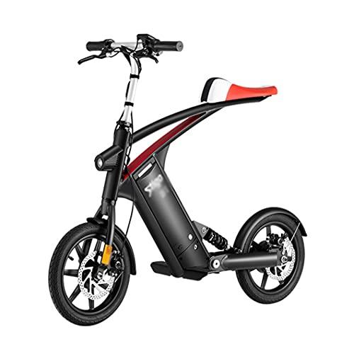 ZXQZ Bicicletas Eléctricas para Hombres, Bicicleta Eléctrica 36V 10Ah Batería de Litio Extraíble, Bicicleta Eléctrica Plegable hasta 25 Km/H, Velocidad de Crucero de 5 Marchas