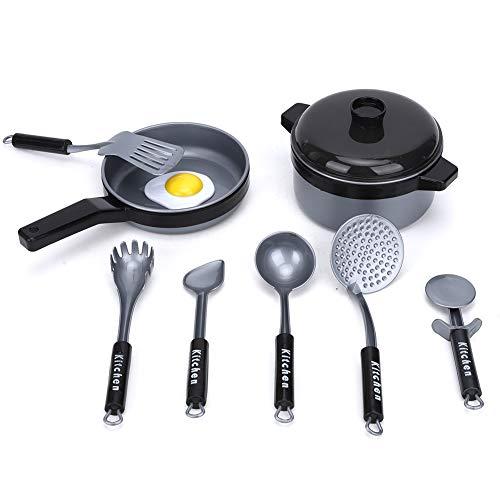 Jacksing Juguete de vajilla, Juguete de Rompecabezas, Juguete de Cocinero de vajilla para Padres e Hijos para bebés(9-Piece kitchenware Set)