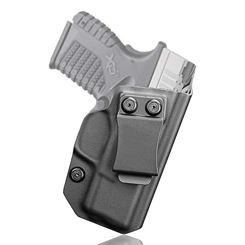 S&W M&P Shield 9mm Holster, IWB KYDEX Holster Fit: SW MP Shield 1.0 9/40-3.1' Barrel, Not Fit Light/Laser, Inside Waistband Concealed Carry, Right Hand (Springfield XDS)