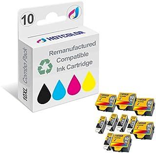 HOTCOLOR 10-Pack (5 لون 5 أسود) استبدال معاد تصنيعها ل Kodak 10B 10C #10XL متوافق مع EasyShare 5100 5300 5500 Kodak ESP 3 ...