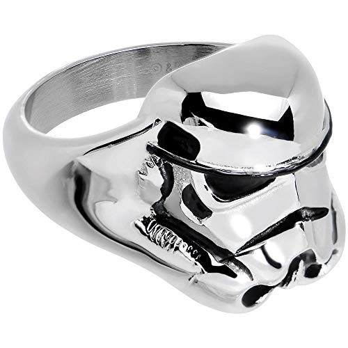 STAR WARS Stormtrooper 3D Face Stainless Steel Ring Size 10