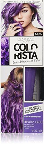 L'Oréal Paris Colorista Semi-Permanent Hair Color for Light Bleached or Blondes, Purple