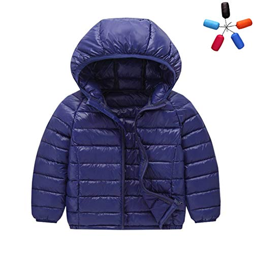 ACMEDE Kinder Junge Mädchen Ultraleichte Daunenjacke Mit Kapuze Herbst Winter Warme Jacket Steppjacke Daunenmantel