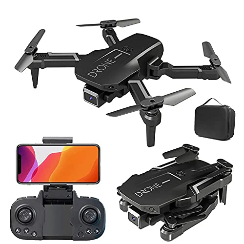 JJDSN Drone Optical Flow Positioning RC Quadcopter con cámara 4K HD, Modo sin Cabeza de retención de altitud, FPV Plegable Drones WiFi Live Video 3D Flips 6Axis RTF Easy Fly Steady for Learning