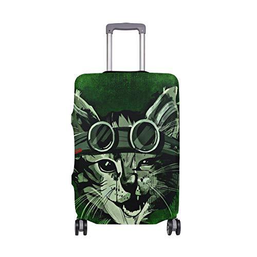 IUBBKI Funda de Equipaje de Viaje Gato Salvaje Fresco Abstracto Divertido Gafas...