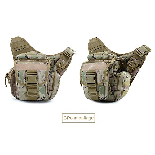 SHRAY Below 20L Tactical Shoulder Bag Fan Sports Bag Assault Package Outdoor Shoulder Bag Camouflage Multifunction Outdoor Travel Camping Oxford Cloth Waterproof Cpcamouflage