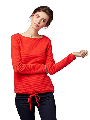 TOM TAILOR Damen 1007943 Sweatshirt, Rot (Brilliant Red 12880), Medium (Herstellergröße: M)