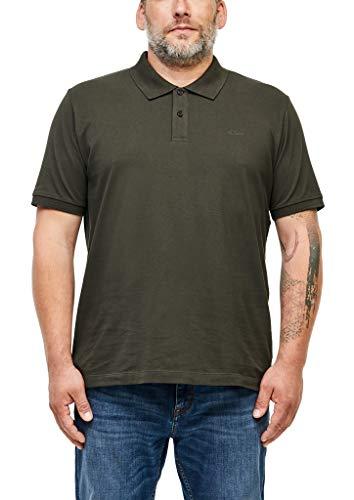 s.Oliver Big Size Herren Poloshirt aus Baumwollpiqué Khaki 4XL