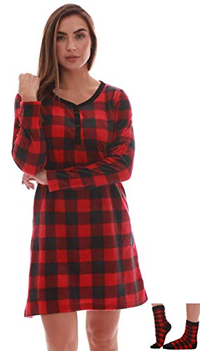 Just Love Henley Night Shirt with Socks for Women 6731-10195-3X