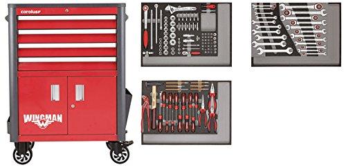 CAROLUS 2254.1802 Werkstattwagen Wingman + 2250.3802 Werkzeugsatz 132-tlg