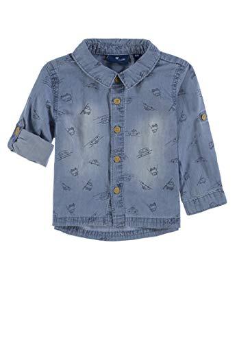 TOM TAILOR Kids Baby-Jungen 1/1 Hemd, Mehrfarbig (Allover|Multicolored 0003), 74