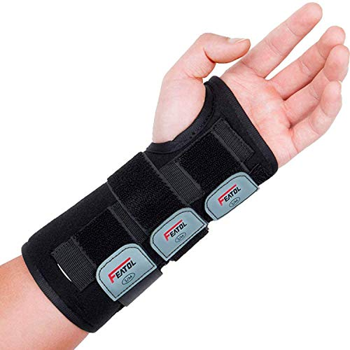 Wrist Brace for Carpal Tunnel, Adjustable Wrist Support Brace with Splints Left Hand, Large/X-Large, Arm Compression Hand Support for Injuries, Wrist Pain, Sprain, Sports