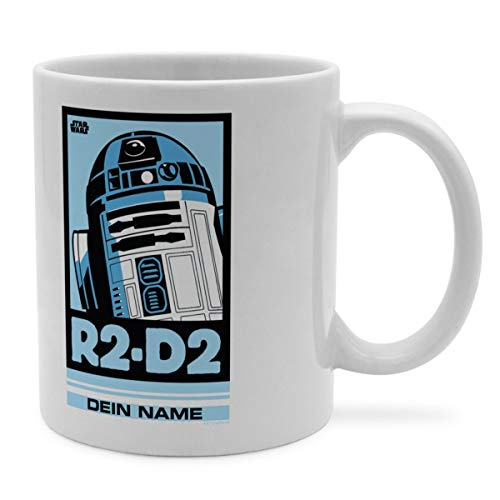PhotoFancy Tasse Star Wars mit Namen personalisiert - Design R2D2 Pop Art