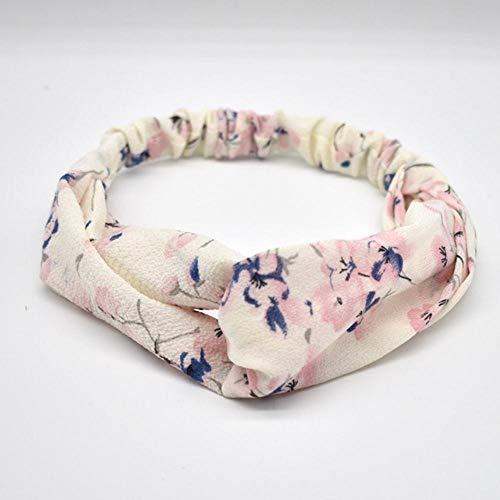 SAGIUSDM 3 STK. Frauen Stirnband Vintage Kreuzknoten Elastische Haarbänder Weiche Feste Mädchen Haarband Haarschmuck, 28