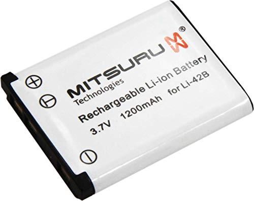 Mitsuru Akku kompatibel mit Olympus LI42B LI-42B LI40B LI-40B Medion Life P430001 MD86123 Agfa Agfaphoto Optima 3 100 102 103 104 830 UW 830UW BenQ E1460 E1480 T1260 T1460