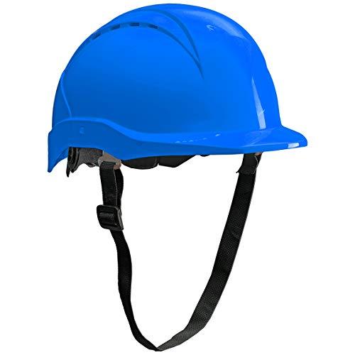 ACE Patera Bauhelm - Belüfteter Schutzhelm für die Baustelle - EN 397 - Blau