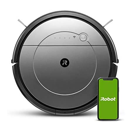 Robot Aspirador y friegasuelos iRobot Roomba Combo Conectado a WiFi con Diferentes Modo de Limpieza - Aspiración Potente - Sugerencias Personalizadas - Compatibilidad con los asistentes de Voz