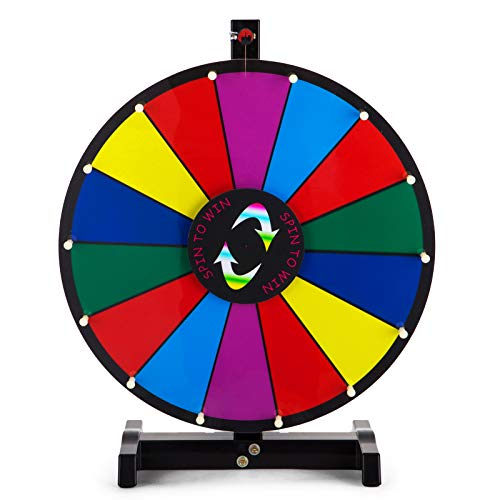 VEVOR 61 cm lyckohjulleksak, färghjulspel för lotterispel, ordspel, 24 tum lyckohjul för att vrida akrylplatta med PVC-skum, 65 x 65 x 9 cm, turhjul för vuxna och barn.