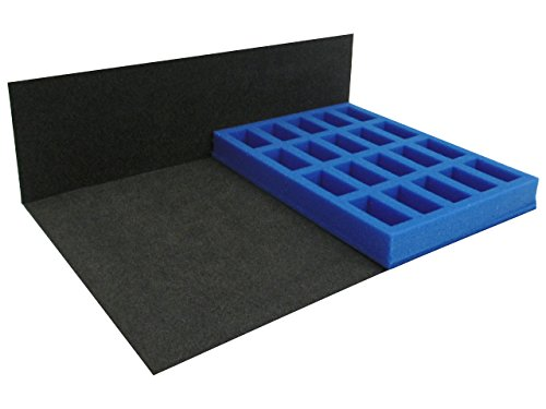 KR Multicase 23mm deep 40 compartments half width tray (each 50mm x 25mm)