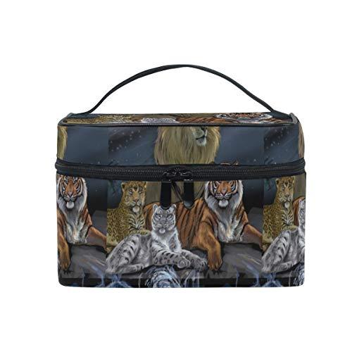 Léopard Lion Tigre Trousse Sac de Maquillage Toilette Cas Voyage Sac Organisateur Cosmétique Boîtes pour Les Femmes Filles