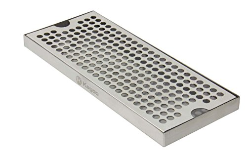 Kegco KC DP-125 Drip Tray, Pack of 1, Stainless Steel