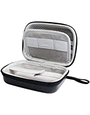 Hard Case for Carson MicroBrite Plus Pocket Microscope (MM-300 or MM-300MU) and MicroFlip (MP-250 or MP-250MU) Carry Case Includes Carabiner and Strap by Jiusion