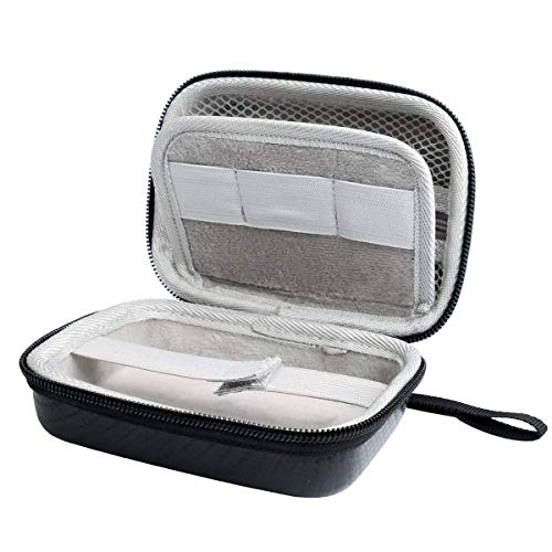 Hard Case for Carson MicroBrite Plus Pocket Microscope (MM-300 or MM-300MU) and MicroFlip (MP-250 or MP-250MU) Travel Storage Carrying Include Carabiner and Strap by Jiusion