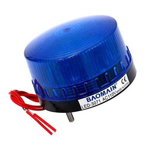 Baomain Blinking Signal Round Warning Light LED-3071 AC 110V 3W Blue