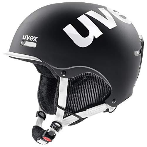 uvex Unisex– Erwachsene hlmt 50 Skihelm, black-white mat, 59-62 cm