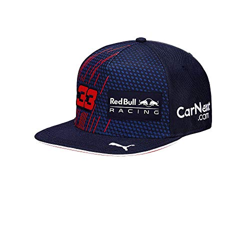 Red Bull Racing 2321901 Max Verstappen Driver Flatcap, Youth One Size - Original Merchandise