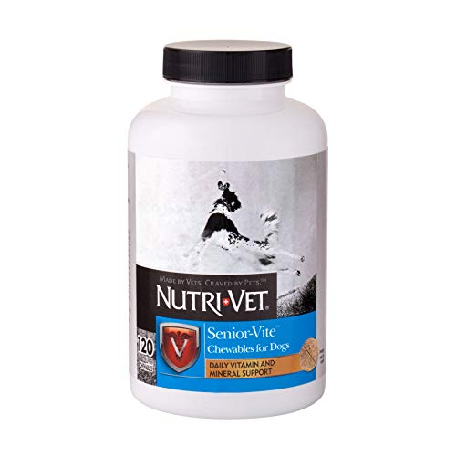 Nutri-Vet Senior-Vite Chewables for Senior Dogs   Formulated with Vitamins & Minerals to Support Balanced Diet   120 Count
