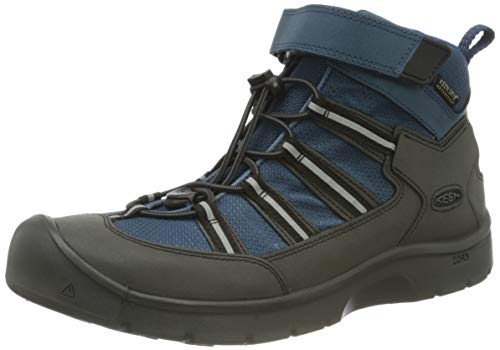 KEEN Hikeport 2 Sport Mid Height Waterproof Hiking Boot, Majolica/Sky Diver, 4 US Unisex Big Kid