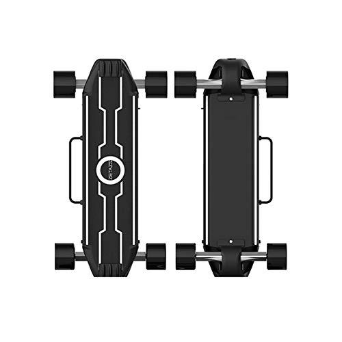 FATSW Aluminiumlegierung Elektro Skateboard Elektrisches Longboard mit Smart Start und LED-Licht Fernbedienung, Höchstgeschwindigkeit 28km/h, bis zu 25km Reichweit, für Jugendliche Erwachsene