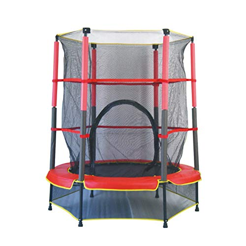 Lzww Kids Trampolines with Safety Net, 55 Inch, Indoor and Outdoor Fitness Safe Children's Toys for Christmas, Birthday Gift