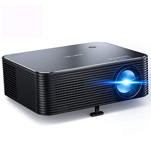 """Proyector, APEMAN Full HD 1920x1080P Nativo, Proyector 4K Soporte, 300\"""" LED Pantalla Grande, Corrección Electrónica Trapezoidal, Compatible con HDMI/USB/Smartphone/TV Stick/PS4, para Cine en Casa"""