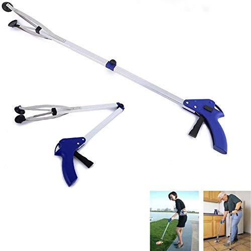 KAIGE Pinza plegable de aluminio, pinza de basura, pinza de agarre, pinza de mano, longitud de 82 cm/32 pulgadas, para alcanzar la basura, herramienta de mano para el jardín