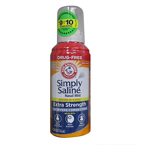 ARM & Hammer Simply Saline Extra Strength, Severe Congestion, 4.25 Oz (2 Pack)