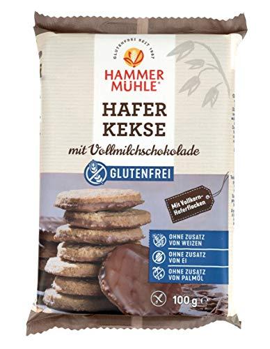 Hammermühle Hafer Kekse mit Vollmilchschokolade glutenfrei 100g