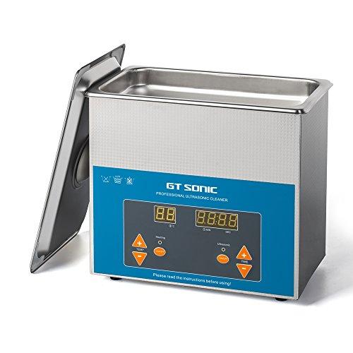 GTSONIC 超音波洗浄機 業務用 小型 超音波洗浄器 3L 100W デジタル 加熱 超音波 洗浄機 VGT-1730QTD