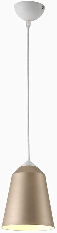 Restaurant Hngende Lampe Multi Farbe ColGoldt Aluminium Pendent Lampe Einzigen Kopf Café Dekorative Lampe Bar Bekleidungsgeschft Beleuchtung Leuchte Kronleuchter, BOSSLV, WireGold Dumb Weiß