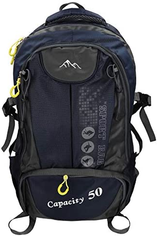 BETZ Mochila Unisex para Viaje Senderismo Camping Tiempo Libre Capacity II con 3 Bolsillos Volumen de 28 litros Color Azul