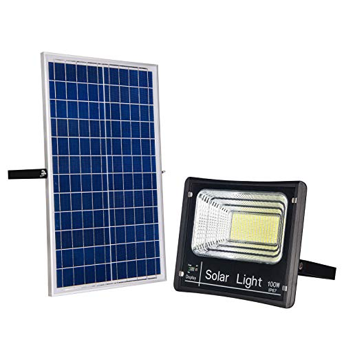 100W Solar Flood Light Outdoor Dusk to Dawn...