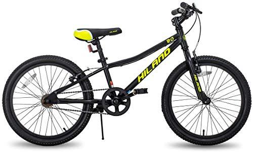Hiland Climber Vélo 20 pouces VTT pour enfant garçon fille pour 4-7 ans Fourche de suspension...