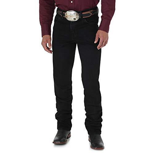 Wrangler Pantalones Vaqueros para Hombre. Negro 36W x 30L