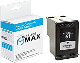 SuppliesMAX Compatible Replacement for HP DeskJet 1000/1050/2000/2050/3000/3516/Envy 400/5539 Black Inkjet (190 Page Yield) (NO. 61) (CH561EE)