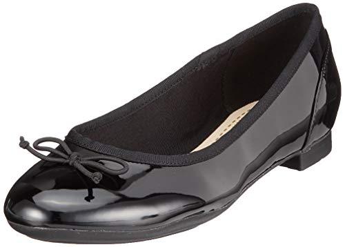 Clarks Clarks Couture Bloom, Damen Ballerinas, Schwarz (Black Patent), 41.5 EU (7.5 Damen UK)
