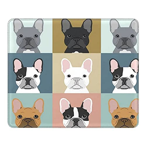 antcreptson French Bulldogs Dog Mouse Pad Custom,Mousepad Non-Slip Rubber Gaming Mouse Pad Rectangle Mouse Pads for Computers Laptop